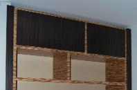 Шкаф и стол из массива зебрано и эбенового дерева