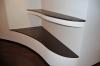 Эксклюзивные полки с деревянным покрытием в стене