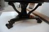 Круглый журнальный стол - ножка стола с резными элементами