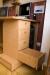 Компьютерный стол из массива вишни - боковые ящики