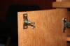 Компьютерный стол из массива вишни - секретный механический замок на двери
