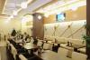 Общий вид столы и стеновые панели из фанерованного мдф с раскладкой из массива дуба